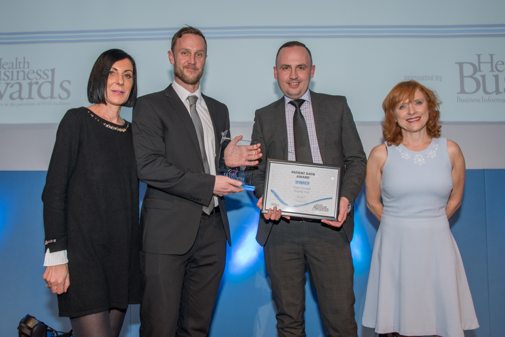 Patient Data Award 2016 Winner: Royal Cornwall Hospital Trust