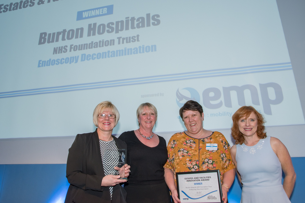 Estates and Facilities Innovation 2016 Winner: Burton Hospitals NHS Foundation Trust  - Endoscopy Decontamination Services