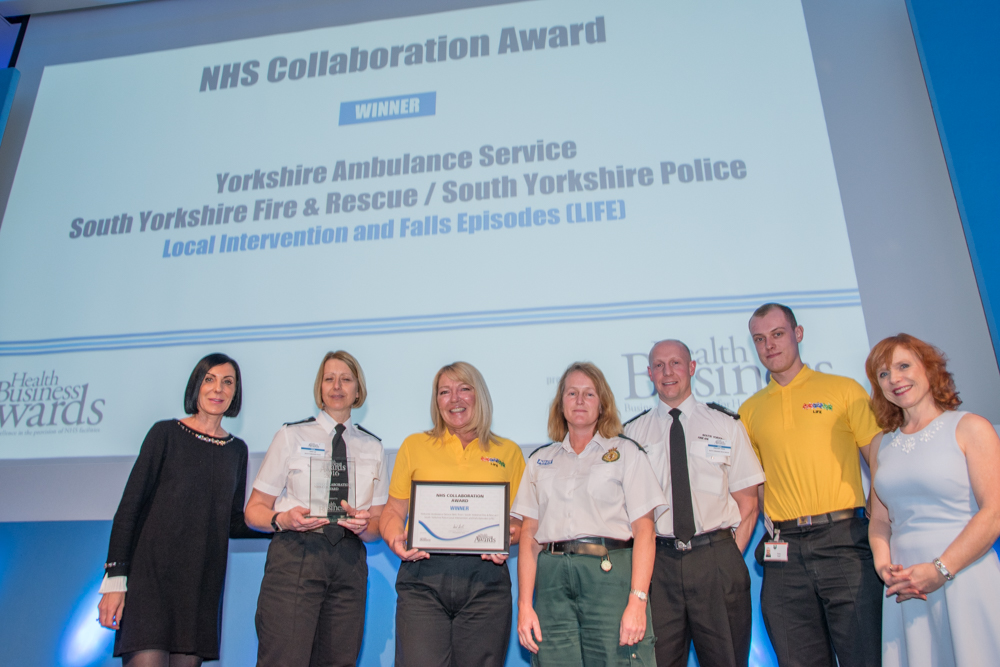 NHS Collaboration Award Winner - Yorkshire Ambulance Service NHS Trust / South Yorkshire Fire & Rescue / South Yorkshire Police