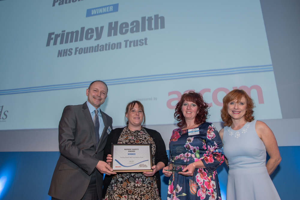 Patient Safety Award 2016 Winner Frimley Health NHS Foundation Trust