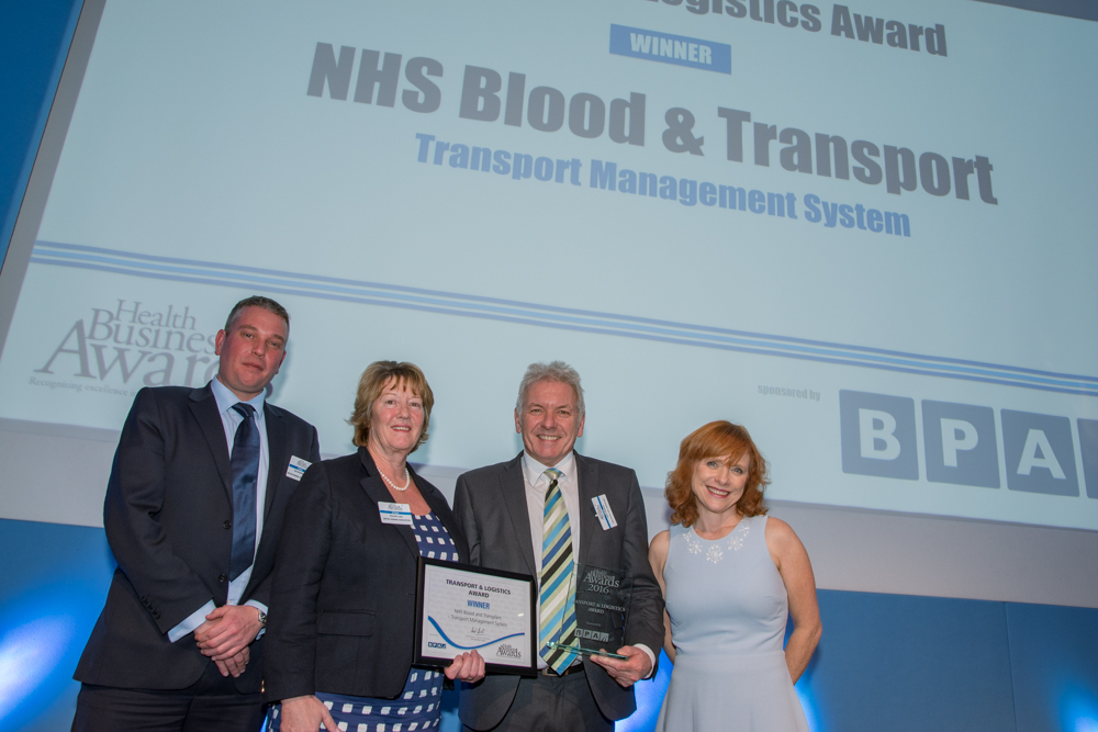 Transport & Logistics Award 2016 Winner: NHS Blood and Transport