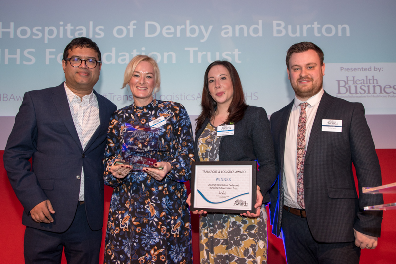 Transport & Logistics Award 2019 Winner: University Hospitals of Derby and Burton NHS Foundation Trust