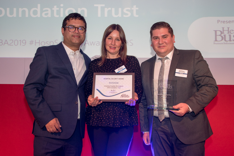 Hospital Security 2019 Winner: University Hospitals Birmingham NHS Foundation Trust - tackling violence and aggression